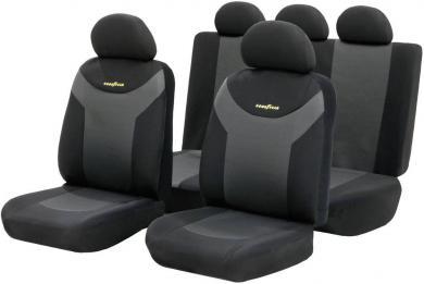 Set huse scaun auto, negru, antracit, 9 piese, Goodyear