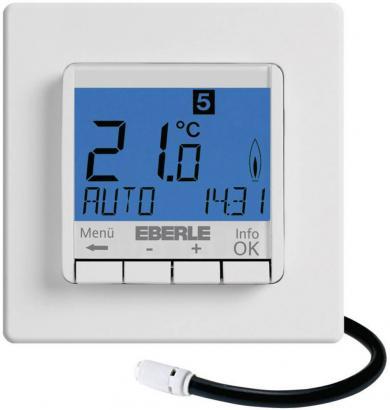 Termostat de cameră, montaj încastrat, program săptămânal, 10 la 40 °C, Eberle FIT-3F