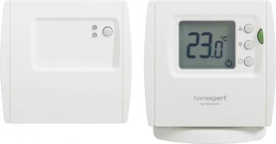 Termostat de cameră wireless, montare aparentă, program zilnic, 5 la 35 °C, Honeywell Homexpert THR842DBG