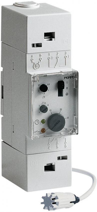 Termostat cu montare pe şină DIN, 5 la 30 °C, Wallair TMTEO 83