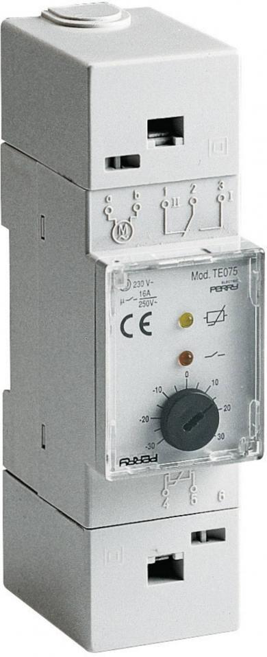 Termostat cu montare pe şină DIN, -30 la 30 °C, Wallair TMTEO 75