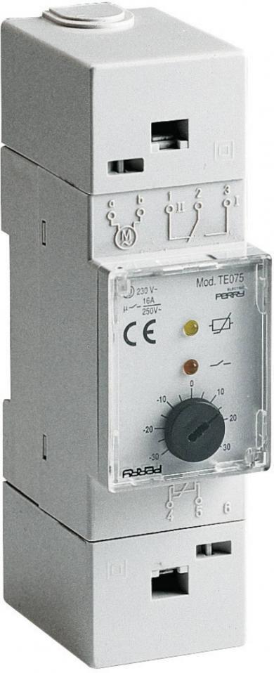 Termostat cu montare pe şină DIN, -20 la 40 °C, Wallair TMTEO 76