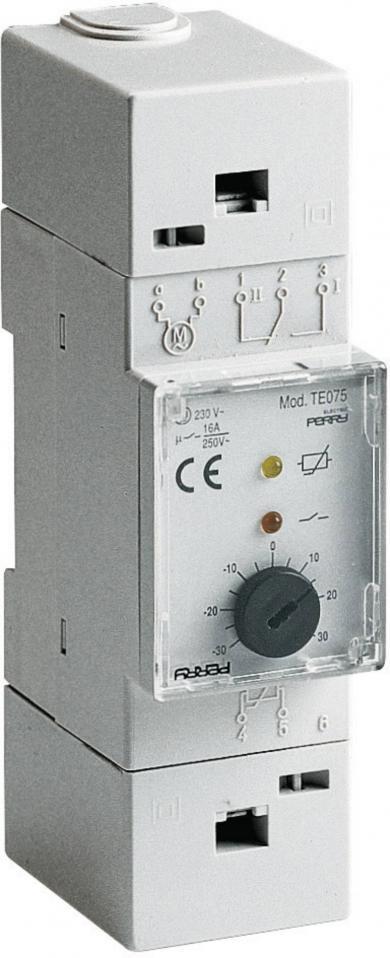 Termostat cu montare pe şină DIN, 0 la 60 °C, Wallair TMTEO 77