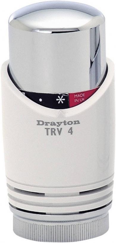 Cap termostatic Eberle TRV4 Classic, alb-crom