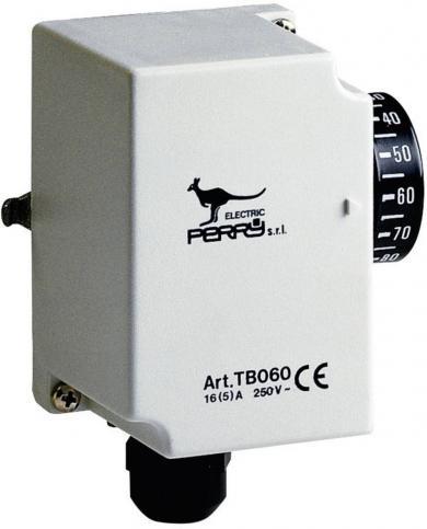 Termostat industrial pentru ţevi, montare la suprafaţă, 30 la 90 °C, 1TCTB060
