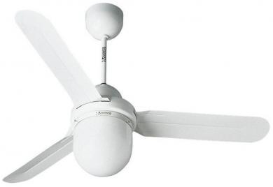 Ventilator de tavan (Ø) 122 cm cu iluminare, 1 treaptă de viteză, 3 palete, culoare palete/carcasă: alb/alb, Vortice Nordik Design 1S/L 120 WE