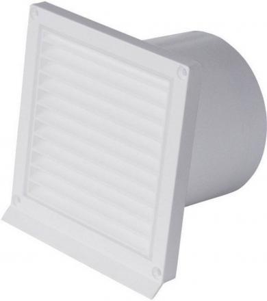 Grilaj de protecţie extern 125 mm, cu suport şi clapetă, alb