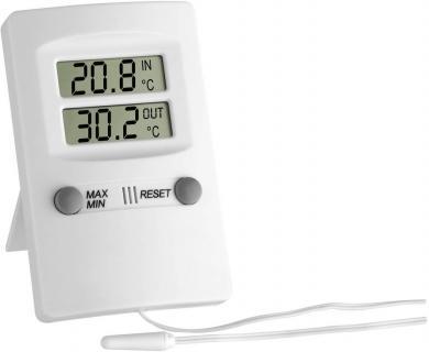 Termometru digital de interior şi exterior, alb, TFA