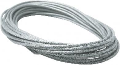 Cablu elastic de siguranţă Paulmann, izolat, 6 mm², 12 m, transparent, gri