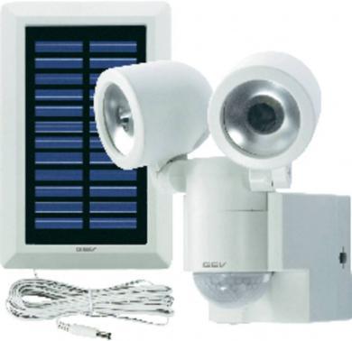 Proiector solar cu senzor de mişcare GEV, alb