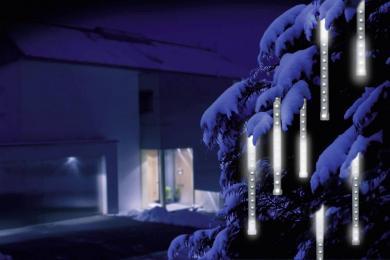 Perdea luminoasă LED Glow Sticks, 6 tuburi, efect ţurţuri de gheaţă
