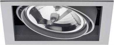 Spot halogen Downlight Ancona, 1 x 100 W, gri-argintiu