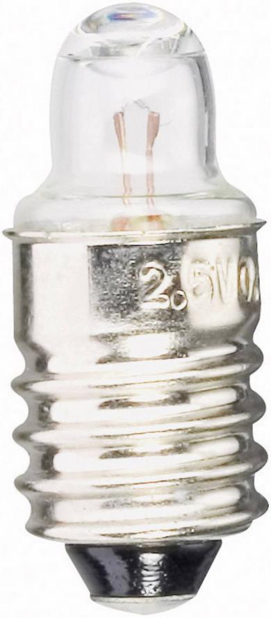 Bec de rezervă lanternă Barthelme, soclu E10, 2,2 V, 0,55 W