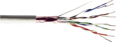 Cablu patch flexibil CAT 5e - F-UTP Digitus, 4 x 2 x 0,4 mm², la pachet, rolă 100 m, gri