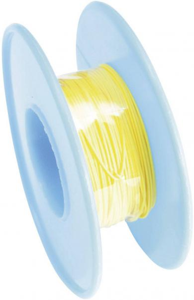 Cablu pentru conexiuni înfăşurate Wire-Wrap, 1 x 0.08 mm², galben, 15 m, AWG 28
