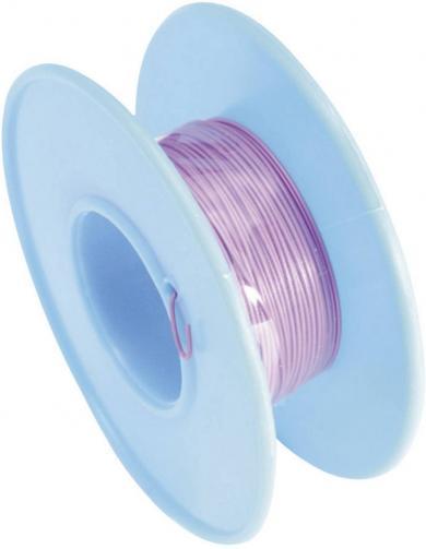 Cablu pentru conexiuni înfăşurate Wire-Wrap, 1 x 0.01 mm², purpuriu, 15 m, AWG 36