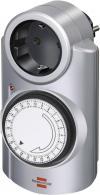 Priză programabilă mecanică Brennenstuhl, 230 V/50 Hz, 3680 W, argintiu