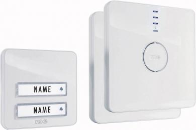 Sistem sonerie wireless m-e Bell 202, 2 familii, alb