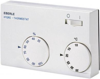 Higrotermostat de cameră, montare aparentă, 10 la 35 °C, Eberle HYG-E 7001