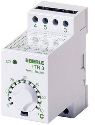 Termostat universal încastrabil, 0 la 60 °C, Eberle ITR-3