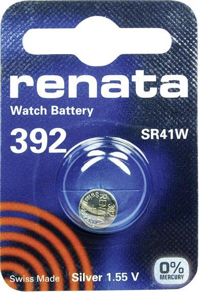Baterie buton oxid de argint 392, 1,55 V, 45 mAh, Renata