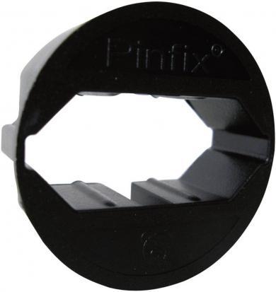 Adaptor pentru priză Pinfix, negru