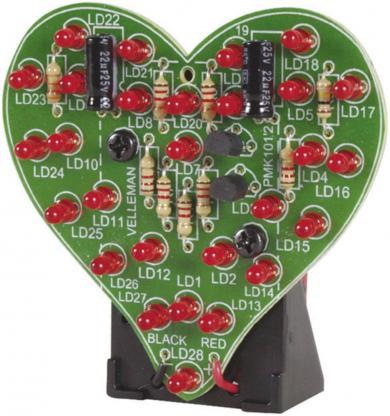 """Kit """"Inimă pulsatilă"""" Velleman MK101, 9 V"""