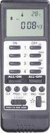 Telecomandă wireless RSLT cu display, 16 canale, negru