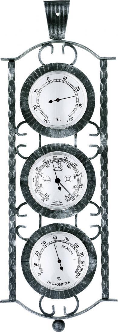 Staţie meteo analogică de interior şi exterior, fier forjat, Fischer 53985