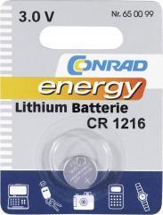 Baterie buton Li CR 1216