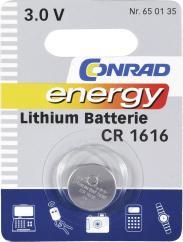 Baterie buton Li CR 1616