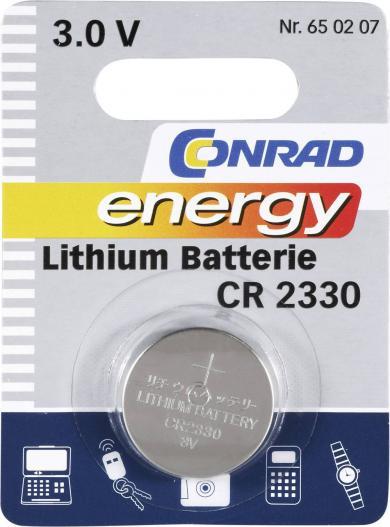 Baterie buton Li CR 2330