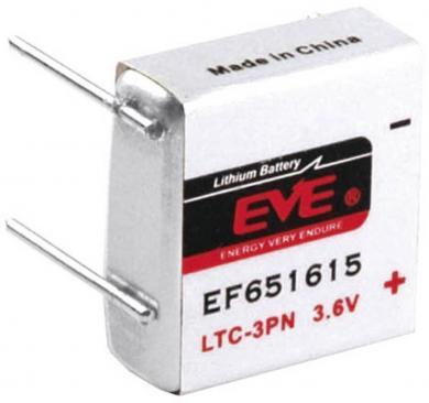 Baterie litiu LTC-3PN cu pini de lipire, 3,6 V, 400 mAh, EVE