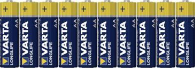 Set 8 baterii alcaline AA, 1,5 V, Varta Longlife Extra