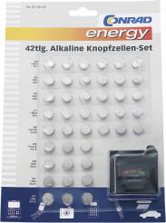 Set baterii buton alcaline, 42...