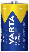 Set 2 baterii alcaline D, 1,5 V, Varta High Energy