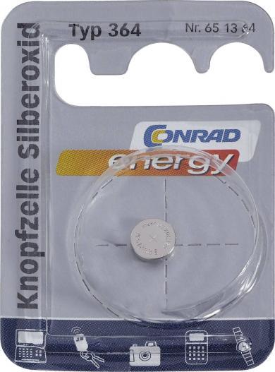 Baterie buton oxid de argint 364, 1,55 V, 23 mAh, Conrad energy