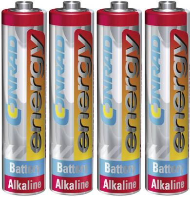 Set 4 baterii alcaline AAA, 1,5 V, Conrad energy Extreme Power