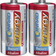 Set 2 baterii alcaline C, 1,5...