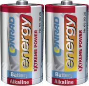 Set 2 baterii alcaline D, 1,5...