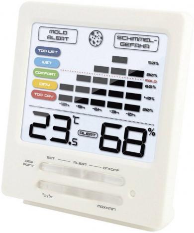 Termohigrometru digital cu alarmă la mucegai Techno Line WS 9420