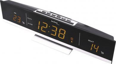 Termometru interior/exterior electronic cu ceas Techno Line WS 6810