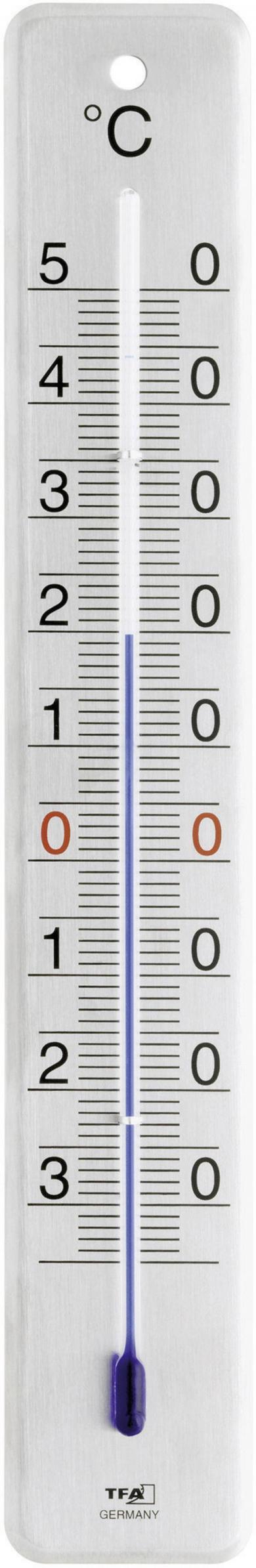 Termometru analogic de perete, argintiu, TFA 12.2046.61