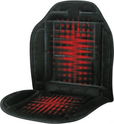 Husă scaun cu încălzire 12 V, 2 trepte de încălzire, negru, Profi Power