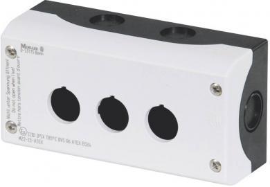 Carcasă montare la bază M22-I2, 2 locaţii de instalare, 80 x 106 x 56 mm, gri (RAL 7035)