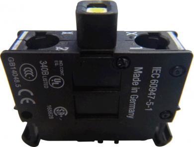 Element led M22-LEDC230-W, 85-264 V DC/AC, fixare bază, led alb