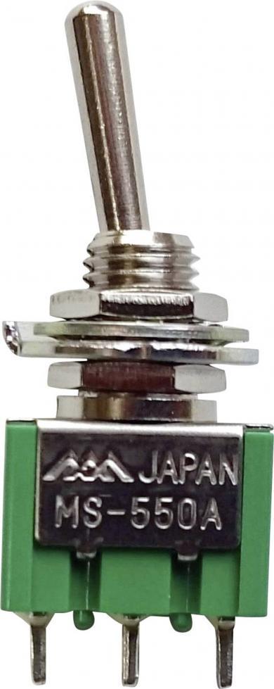Întrerupător basculant, miniatură, MS-550A-B 1 x ON/ON 250 V/AC 1,5 A
