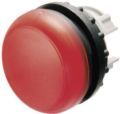 Semnalizator luminos plat M22-L-W, rotund, IP67, 29,7 x 11,5 mm, alb