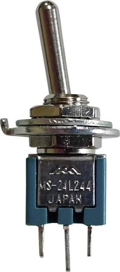 Întrerupător basculant micro-miniatură, 2 poli ON/ON 250 V/AC 1,5 A