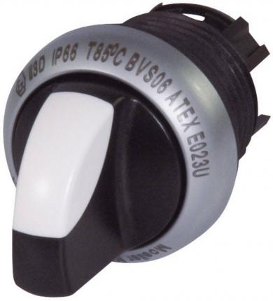 Buton selector M22-WK3 IP 66, 29.7 x 26.9 mm, negru, (ON)/OFF/(ON)